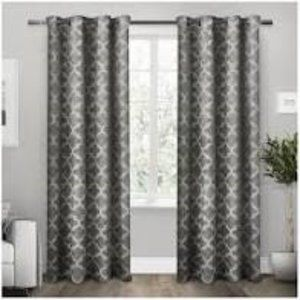 Black Pearly Cartago Insulated Blackout Curtains